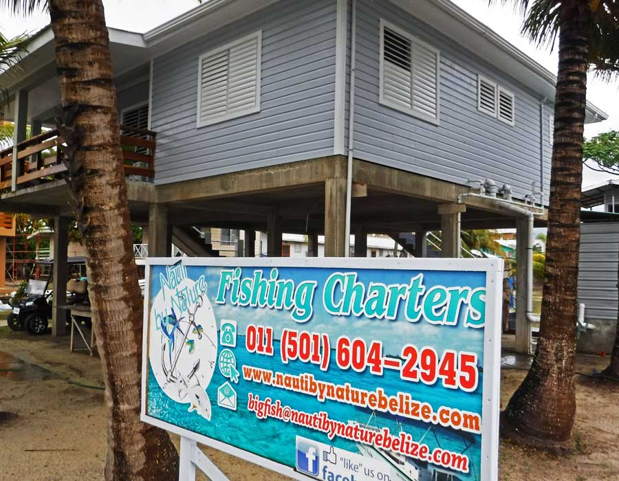 placencia fishing charters office sign