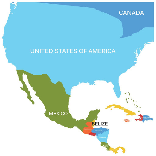 where is belize location on a map