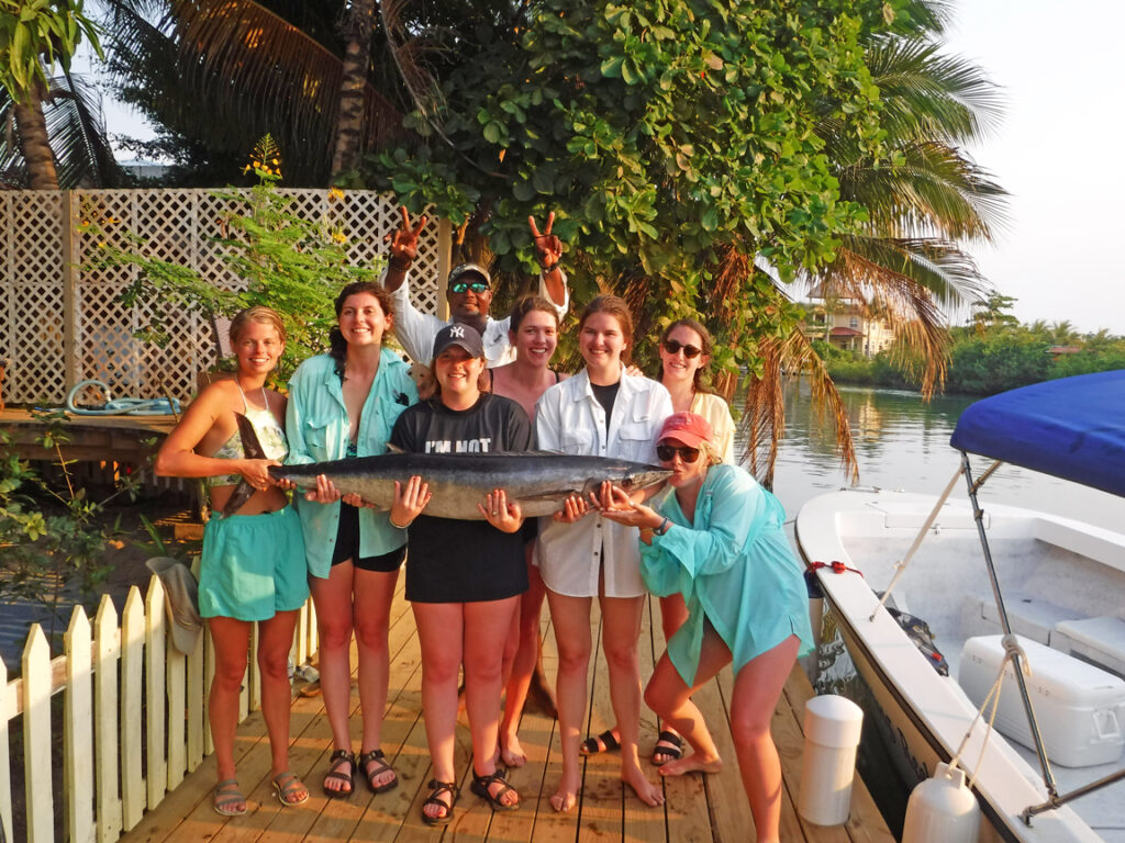 family fishing trip belize